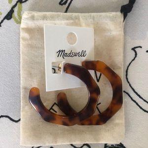 NWT Madewell Tortoiseshell Statement Hoop Earrings